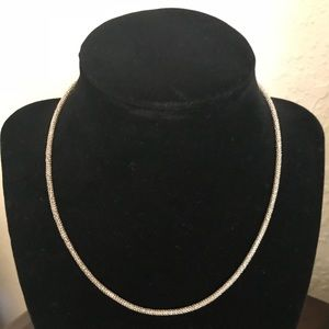Beautiful Italian sterling silver necklace.